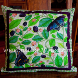 Blackberry Butterfly Pillow