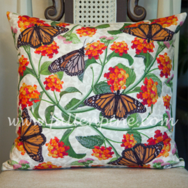 Monarchs and Lantana Pillow
