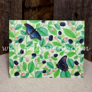 Blackberry Butterfly Notecard