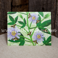 Bumblebees and Passionflowers notecards