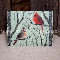 Cardinal Winter Pair Notecards