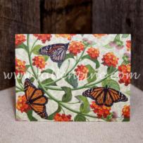 Monarchs and Lantana Notecard