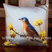 Bluebird on Sassfas 2 Pillow