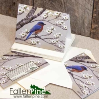Bluebird Dogwood Notecard