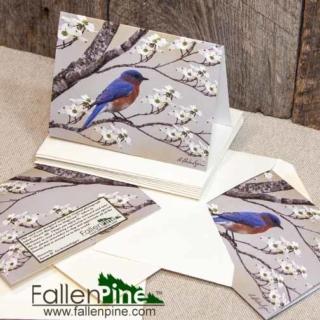 Bluebird Dogwood Notecard