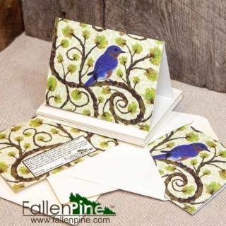 Bluebird Sassafras Notecard