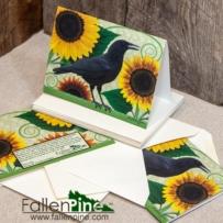 Crow Sunflower Notecard